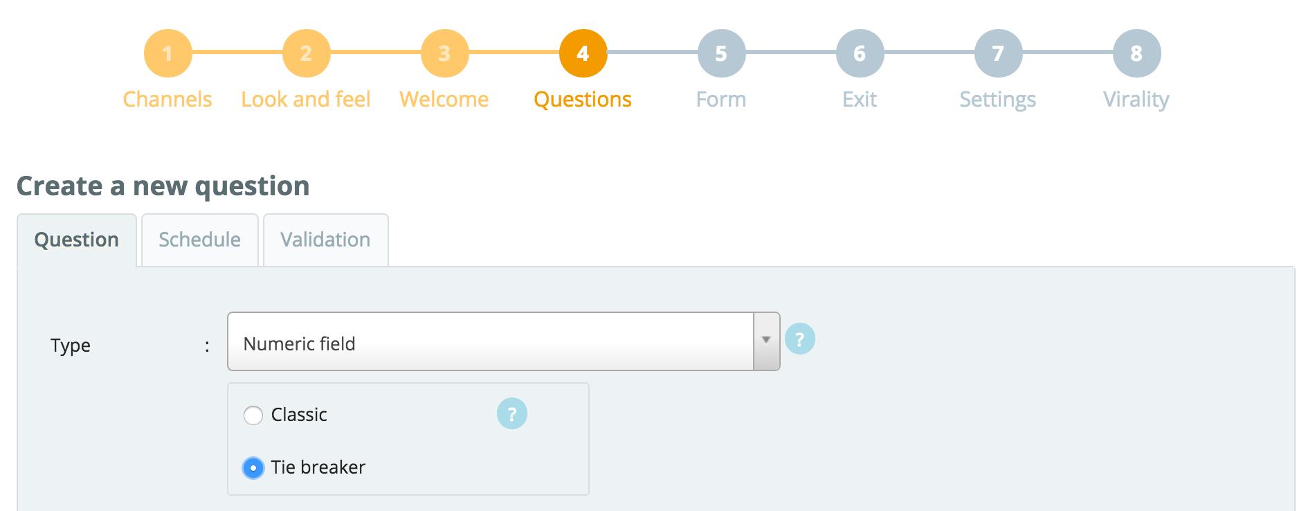How to add a tiebreaker question – Qualifio Help Center